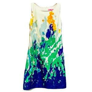 ELIZA J Sleeveless Watercolor Floral Sheath Dress